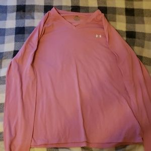 Pink Under Amour long sleeve, very comfortable.